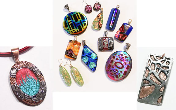 Metal Clay Classes and Fused Glass Classes